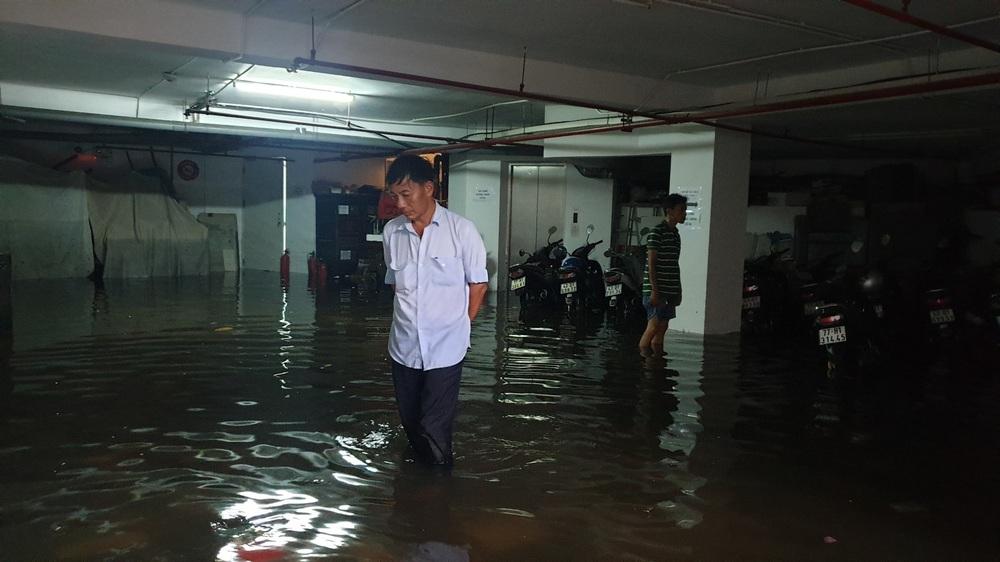 Đà Nẵng trong bão số 5: Mưa to kèm sấm chớp, nhiều tuyến đường ngập nước, cây đổ, cột điện gãy - Ảnh 9.