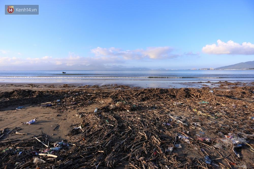 Chùm ảnh: 3.000 tấn rác dạt vào bãi biển Đà Nẵng sau bão số 13 - Ảnh 3.