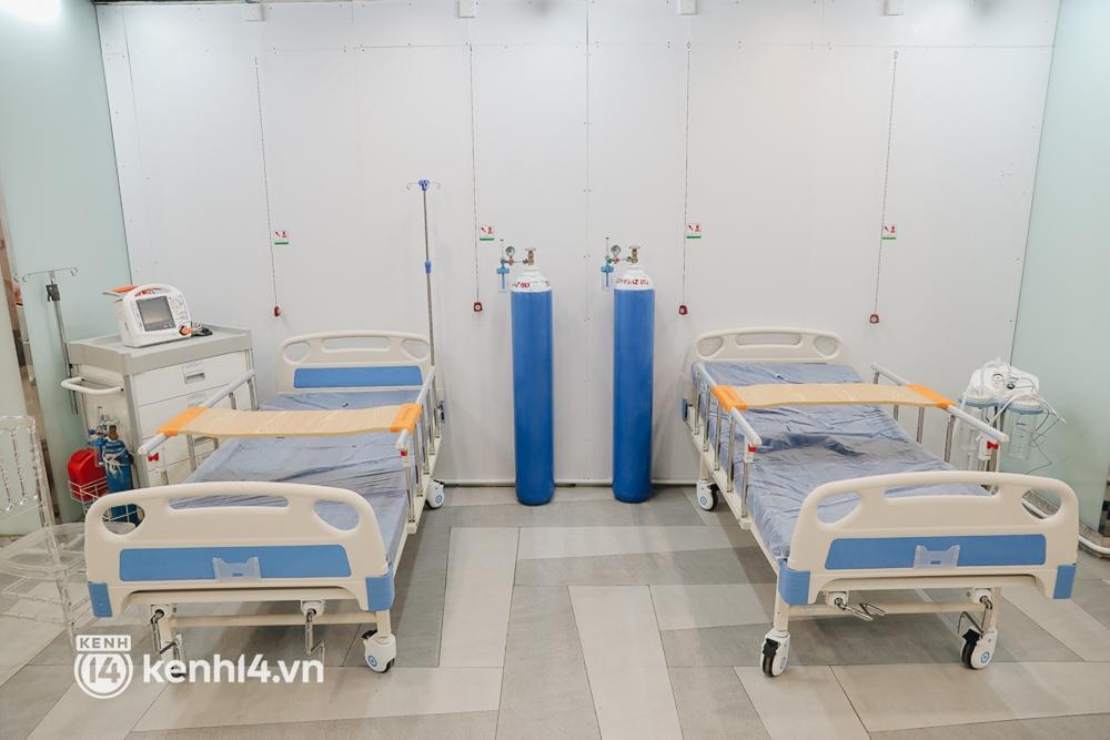 Cận cảnh bệnh viện dã chiến số 5 tại Thuận Kiều Plaza trước ngày hoạt động - Ảnh 5.