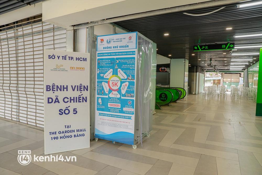 Cận cảnh bệnh viện dã chiến số 5 tại Thuận Kiều Plaza trước ngày hoạt động - Ảnh 2.