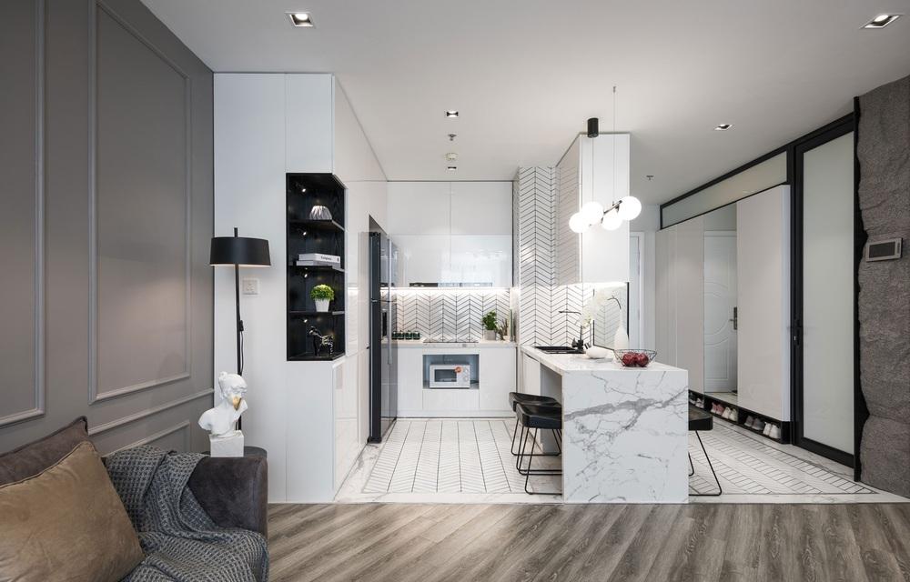 Gái 9X tậu căn hộ 95m2: Chọn toàn tông màu cá tính chất lừ, đồ nội thất tinh xảo nhìn là biết có gu - Ảnh 4.