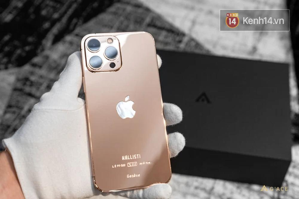 Lác mắt với iPhone 13 Pro Max mạ vàng có giá hơn 130 triệu đồng được chế tác tại Việt Nam - Ảnh 3.