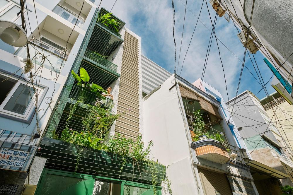Nhà xanh lá 34m2 lọt thỏm giữa những công trình cao tầng nhưng vẫn nổi nhất khu nhờ loạt điểm nhấn độc nhất vô nhị - Ảnh 2.