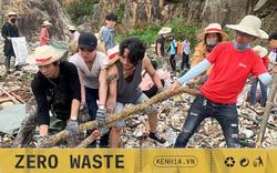 """Thử thách dọn rác phiên bản """"lôi kéo"""" đông vui nhất: 100 người nhặt cả tấn rác ở bãi sông Hồng, xử lý 90% rác khổng lồ ở Sơn Trà"""