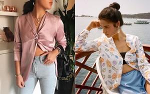 Kiểu áo cài hờ này được dự đoán là hot chẳng kém áo quây hay áo trễ vai trong hè 2018