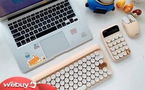 Review combo bàn phím màu trà sữa: Siêu xinh nhìn