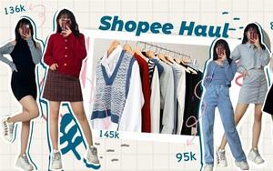 """Shopping đồ thu đông chỉ từ 88k nhưng cô bạn gom về toàn đồ xinh, món nào cũng y hình không """"điêu"""""""