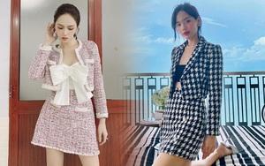 Học sao Việt sắm cả cây vải tweed thì đi đâu chị em cũng được khen xinh sang