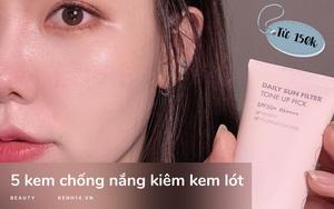 5 kem chống nắng kiêm kem lót hội chăm makeup chắc chắn sẽ ưng