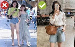 Muốn được khen sành điệu và có duyên, chị em hãy chọn quần shorts dáng rộng thay vì kiểu ngắn cũn bó chẽn thế này