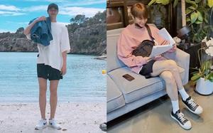 Lee Min Ho chuyên diện quần short ngắn cũn tôn chân dài cực phẩm, không ít giai hẳn sẽ muốn học theo đấy