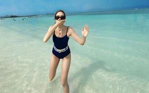 Không cắt xén hết hồn như sao Việt, các idol Hàn chỉ chuộng bikini đơn giản mà còn che bụng mỡ hết ý