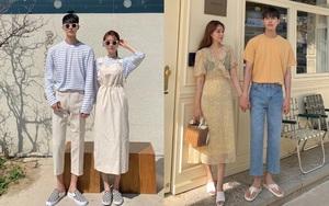 4 chiêu diện đồ đôi xịn mê couple Hàn mách nước cho bạn, ai đang