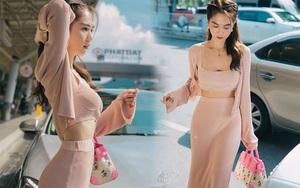 Ngọc Trinh diện nguyên set dệt kim xinh và sexy quá, các nàng học theo chắc chắn style