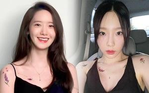 Ngại xăm trổ mà vẫn muốn sành điệu, các nàng học ngay Yoona - Taeyeon diện hình xăm dán nhỏ xinh tinh tế
