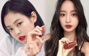 """Hội gái Hàn ồ ạt swatch """"son Jennie"""" mới ra lò: Màu đẹp bá cháy, xem là muốn order gấp một thỏi cho mùa thu"""