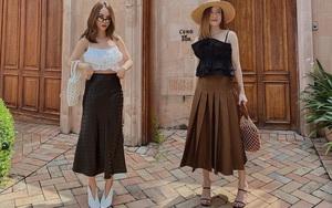 Chỉ với 3 kiểu chân váy mà Yến Trang - Yến Nhi chế được bao set đồ siêu sang, chị em cần gì sắm nhiều cho tốn kém