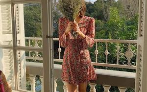 Cứ Thu đến các cô gái Pháp lại diện váy hoa, mặc vừa xinh lại còn siêu thanh lịch