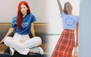 8 cách diện áo phông xinh xẻo từ các mỹ nhân Hoa - Hàn kèm chỗ mua