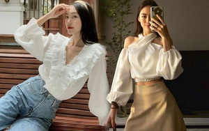 Sắm blouse trắng tiểu thư