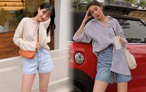 Sắm shorts jeans năng động phối kiểu gì cũng xinh, diện đi chơi vừa thoải mái vừa trendy
