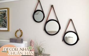 Gương tròn treo tường: Không chỉ lấp đầy khoảng trống mà còn khiến nhà xinh đẹp xịn chuẩn Hàn