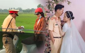 Đám cưới định mệnh hot rần rần MXH: Bị xử lý vi phạm giao thông, hơn 1 năm sau cô gái cưới luôn... anh cảnh sát