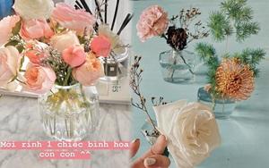 Bình cắm hoa nhà sao Việt vừa