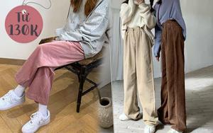 Trời rét nên mua quần nhung tăm: Giá chỉ từ 130K mặc vừa ấm vừa xinh