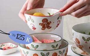 Muốn có bàn ăn lung linh đón Giáng sinh, bạn đừng tiếc 125k mà sắm bát đĩa đúng chuẩn