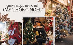 Mua cây thông Noel ở Hàng Mã: Cây đắt nhất 4 triệu, trang trí