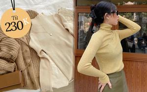 Sắm áo len cổ lọ ôm sát để lên đồ layering đẹp xịn chuẩn Hàn các nàng ơi