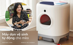 """""""Sen"""" nhà người ta đây rồi: Chi 15 triệu mua máy dọn vệ sinh tự động cho 5 """"boss"""" mèo"""
