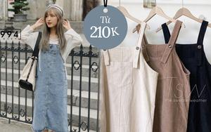 Sắm váy yếm từ 210k rồi phối đồ layering là chẳng ai chê được style của bạn