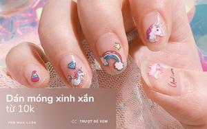 6 mẫu nail dán rẻ bèo mà xinh lung linh cho hội lười ra tiệm