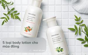5 body lotion từ 65k cho da mướt mịn bất chấp trời hanh khô