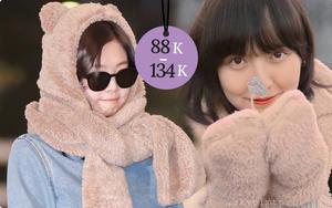 Hải Tú mới học Jennie đội mũ gấu siêu xinh, bạn cũng chốt đơn đi cho kịp trend