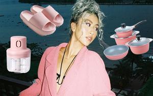 Quỳnh Anh Shyn khoe đồ dùng trong nhà toàn màu hồng: Món rẻ nhất chỉ 13K, thích nhất là đôi dép