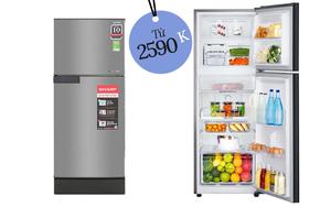 """4 tủ lạnh bình dân bán chạy nhất tại các siêu thị điện máy: Chưa đến 7 triệu đã sắm được một """"em"""""""