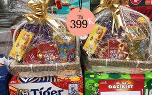 Đi ngắm giỏ quà Tết ở siêu thị và cửa hàng tiện lợi tại Hà Nội: Từ 399K là sắm được một giỏ