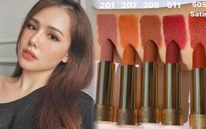 """Phanh Lee khoe 6 thỏi son """"ruột"""" màu siêu đẹp, chị em nên nghía để makeup tây tây như """"phu nhân tổng tài"""""""