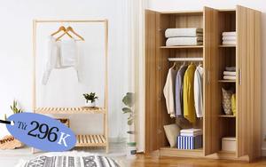 6 giá, tủ quần áo đang sale chỉ từ 296k, hệ bình dân hay sang chảnh đều đủ cả