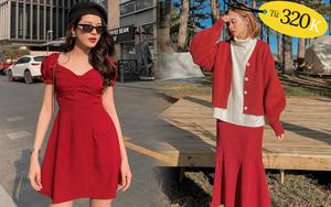 9 mẫu váy đỏ xinh ngất lại chẳng kén dáng, chị em tia gấp để Tết này diện lên ai cũng khen xinh