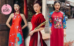 Áo dài đỏ của local brand: Giá từ 650K, chất với dáng đều đẹp lung linh để diện Tết