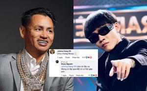 """Wowy muốn sang Mỹ gặp """"ông trùm kim hoàn"""" Johnny Dang, netizen mỉa mai: """"Lại chuẩn bị có bản 'rap nịnh' mới rồi!"""""""