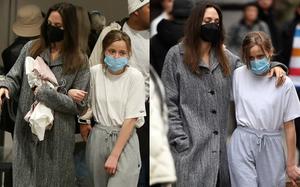 Angelina Jolie và ái nữ đi mua sắm thôi cũng náo loạn khu phố, biểu cảm sợ sệt hoảng loạn của sao nhí Maleficent gây lo lắng