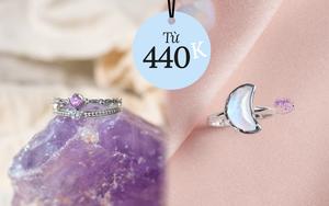 Nhẫn gắn đá phong thủy cực xinh 5 mệnh nên diện để gặp nhiều vận may