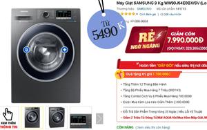 Nhiều máy giặt, máy sấy đang được sale mạnh, mua ngay tiết kiệm được bạc triệu