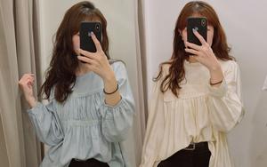 Nghe bảo Hà Nội sắp nắng ấm, mình đã ghé các shop tìm áo blouse bánh bèo