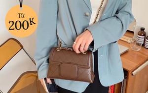 Tổng hợp túi xách rẻ đẹp nhất tại các shop online: Giá chỉ từ 200k mà toàn kiểu trendy sang chảnh